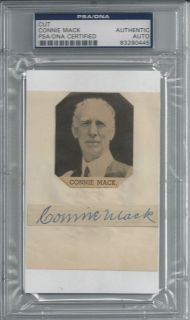 Connie Mack Signed PSA DNA Index Card Slabbed Certified Autograph HOF