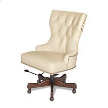 Conroy white leather tufted desk office chair neiman horchow