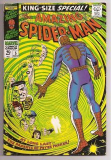 Marvel Comic Book The Amazing Spider Man Annual Special 5 Vf+ 1st