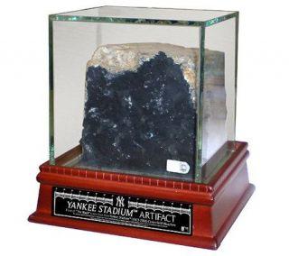 Yankee Stadium Authentic Piece of Black w/ Glass Display Case