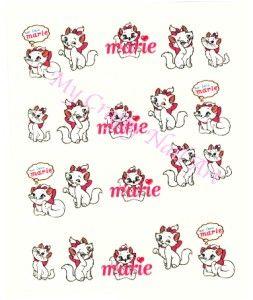 Disney Marie Cat Nail Stickers Transfers Tattoos Art 01 03 020