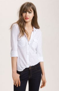 James Perse Button Front Jersey Shirt