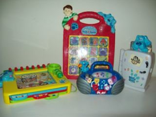 Lot of 4 Blues Clues Interactive Toys   Fridge, Radio, Press & Guess
