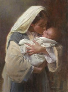 Morgan Weistling Kissing The Face of God Giclee Canvas Jesus Christ