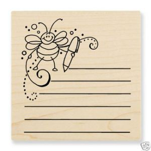Stampendous Bee Journal Rubber Stamp Retired New