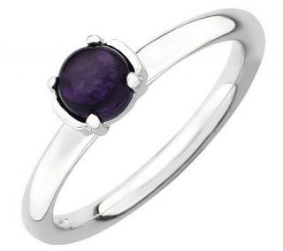 Simply Stacks Sterling Polished Gemstone Ring —