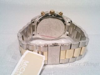 Michael Kors Two Tone Stainless Gold Layton Chronograph Mens Watch