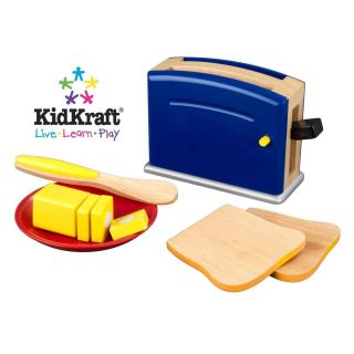 NEW KidKraft Wooden Kitchen Toaster Pretend Play Set   Primary Colors
