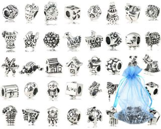 Monster 80pc Mix Lot Design Silver Plated Oxidized Metal Beads Charm