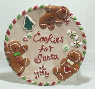 Plate to Hold Christmas Cookies for Santa Claus Holiday Gingerbread