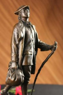 Young Benjamin Franklin Bronze Sculpture Statue Figure