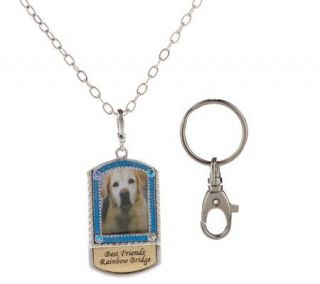 Kirks Folly Best Friends Rainbow Bridge Necklace & Keychain Set