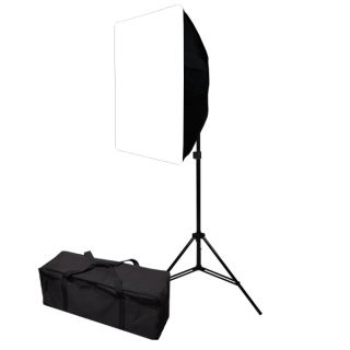 Continuous JS Photo Video Studio 4 Light Holder w Softbox Lighting Kit