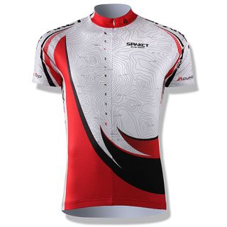 Cool Mens Bike Cycling Short Sleeve Jerseys Quick Dry Skeleton White