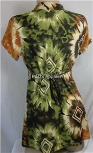 New Womens Maternity Clothes Brown Green Shirt Top Blouse s M L XL