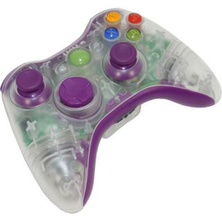 controller kit this auction is for a clear purple xbox 360 controller