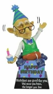 Old Coots 12755 HAPPY BIRTHDAY Bobble Figurine