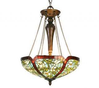 Tiffany Style 17W Anemone Inverted Pendant Light —