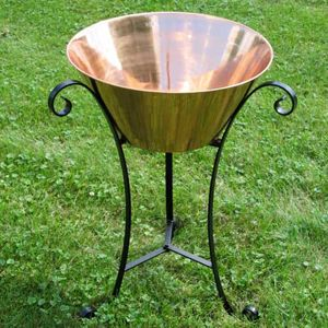 Unique Arts Large Copper Beverage Drink Tub with Stand