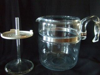 vintage pyrex glass coffee pot 6 9 cup lovely