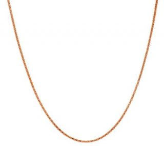 18K Rose Gold Plated Sterling 16 Coreana Chain —
