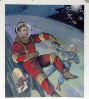 HARLEY BROWN original Published Art,  TOM CORBETT SPACE CADET