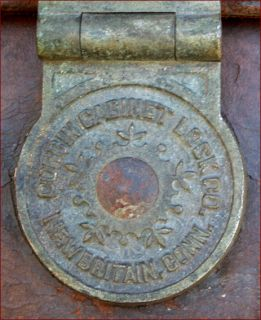 Leather Trunk Suitcase Travel Philip Corbin Cabinet Lock 1880
