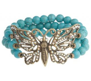 Kirks Folly Wings of Love Butterfly Bracelet —