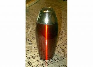 Ruby Red Retro 16 oz Stainless Steel Cocktail Shaker