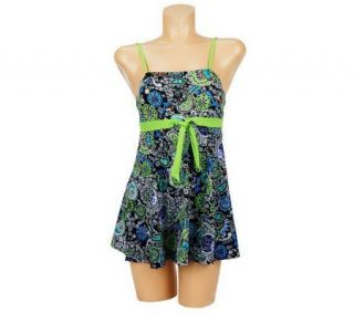 Fit 4 U Thighs Fresh Paisley Bandeau Tie Dress —
