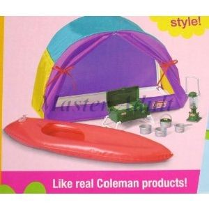 Barbie Campin Gear Playset w/ Coleman Camping Gear 20+ pc accessories