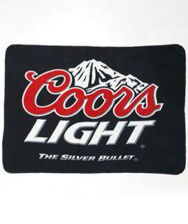 Coors Light Beer Throw Blanket 50 x 60 Licensed Beverage Wrap Up