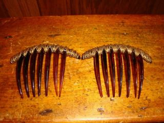 Colette Malouf Designer Hair Jewelry Combs Signed Soho