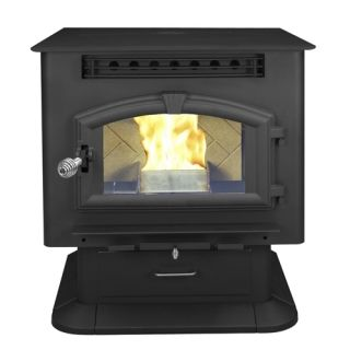 Multi Fuel Stove Pellet or Corn on Pedestal with Igniter 2 000 Sq ft M