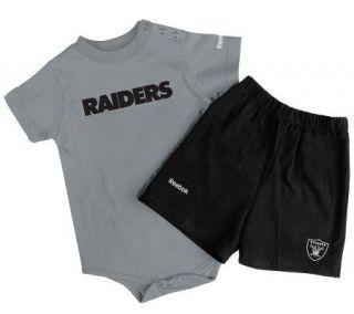 NFL Oakland Raiders Newborn 2 Piece Shorts/Onesie Set —