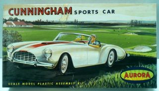 1961 Aurora Cunningham Sports Car Collectible Model Kit 515 49