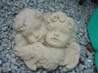 vintage concrete hanging angel heads wall plaque mold