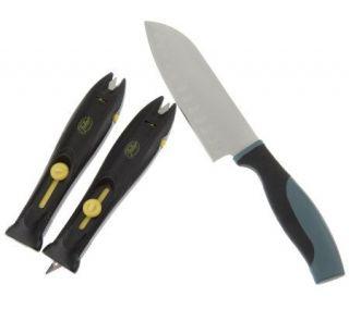 Fuller Brush Set of 2 Multi Purpose Tool Sharpeners w/Santoku Knife