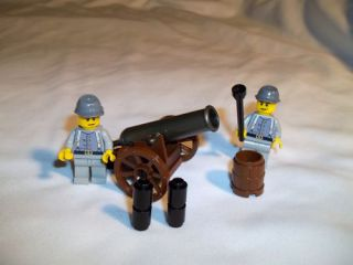 Lego Civil War Mini Cannon Custom Confederate Cavalry
