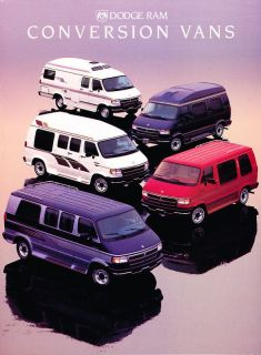 1994 Dodge Conversion RAM Van Sales Brochure Book