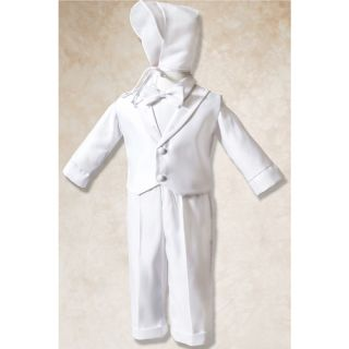 Corrine Company Baby Boy Size 9 12M White Cross Outfit Baptism Hat Set