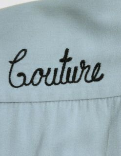Vintage 50s Gabardine Corunna RD Cleaners Chain Stitched Bowling Shirt