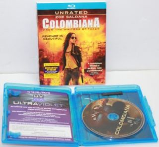 colombiana blu ray disc 2011 unrated nice used