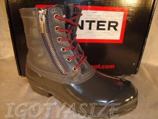 HUNTER WOMENS CORWIN RAIN BOOT US 9 RETAIL 175 00