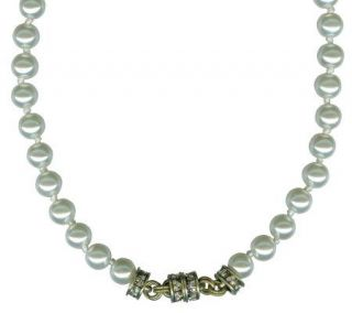 Kirks Folly Simulated Pearl Magnetic Interchangeable Necklace