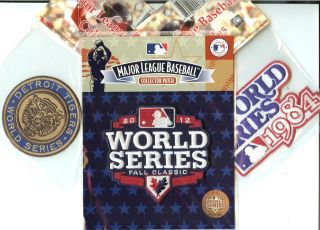 1968 + 1984 + 2012 Detroit Tigers World Series 3 Patch Combo 100%