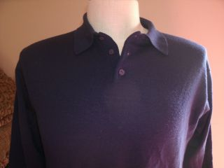 Banana Republic Extra Fine Merino Wool Polo Sweater Large