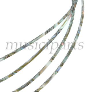 .5mm high quality 5pcs guitar celluloid binding abalone pearl colored