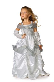 Snow Queen Kids Large Costume  Princess Fairytale Dress  Halloween