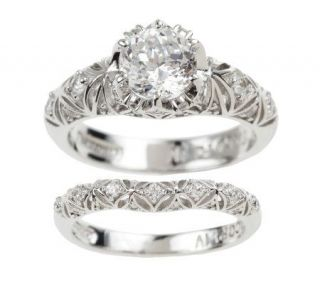Tacori IV Diamonique Epiphany Bloom Cut Ring Set —